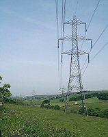 Pylons and field