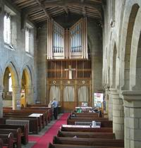 Aisle and organ