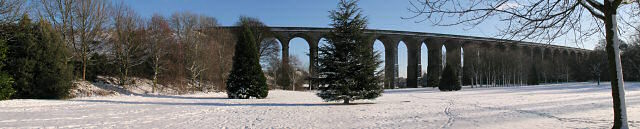 Viaduct in the snow